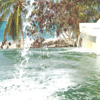 rosa 4 waterfall into pool