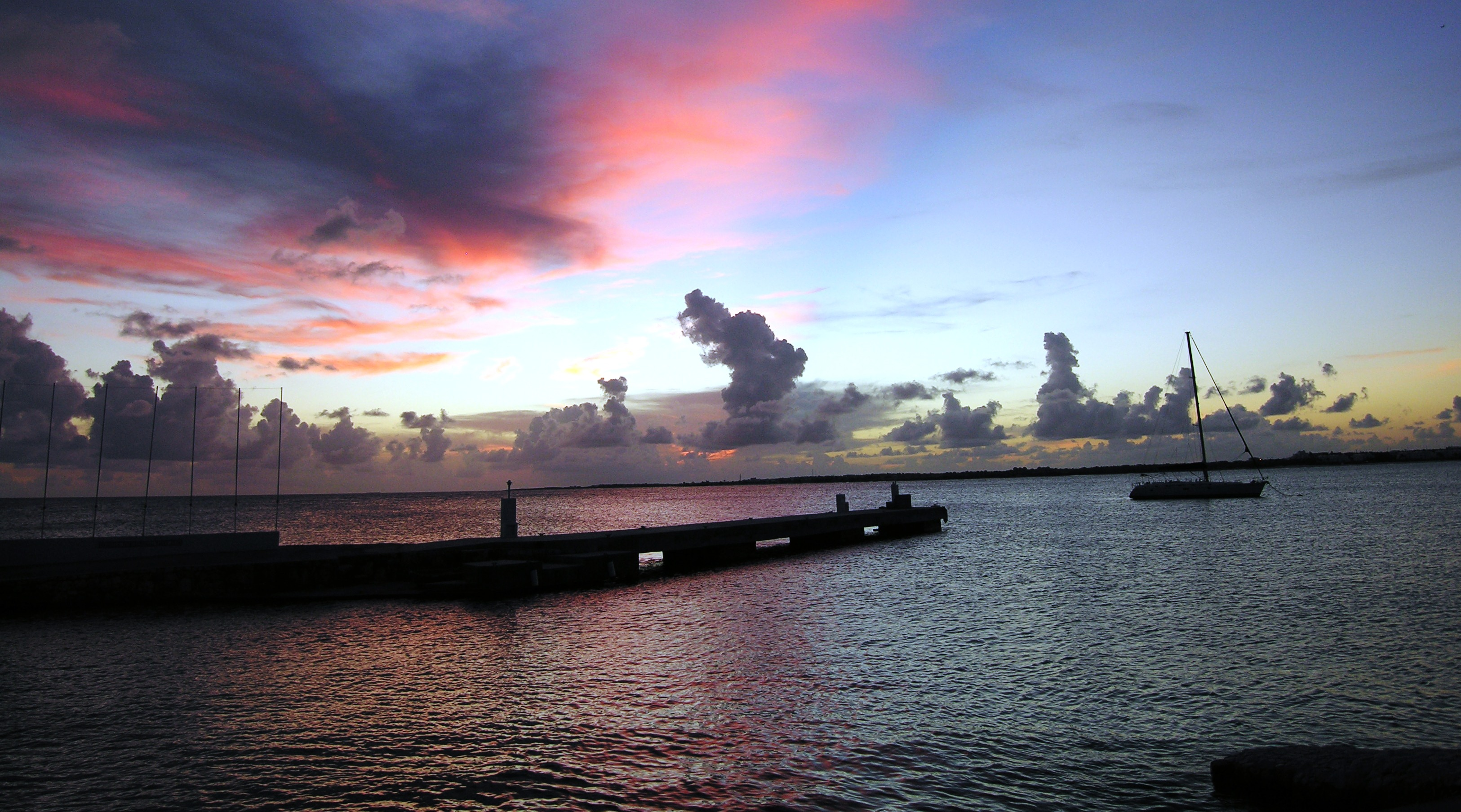 AIYC pier at sunset